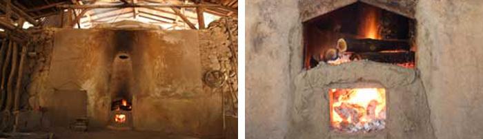 木酢液採取の土窯